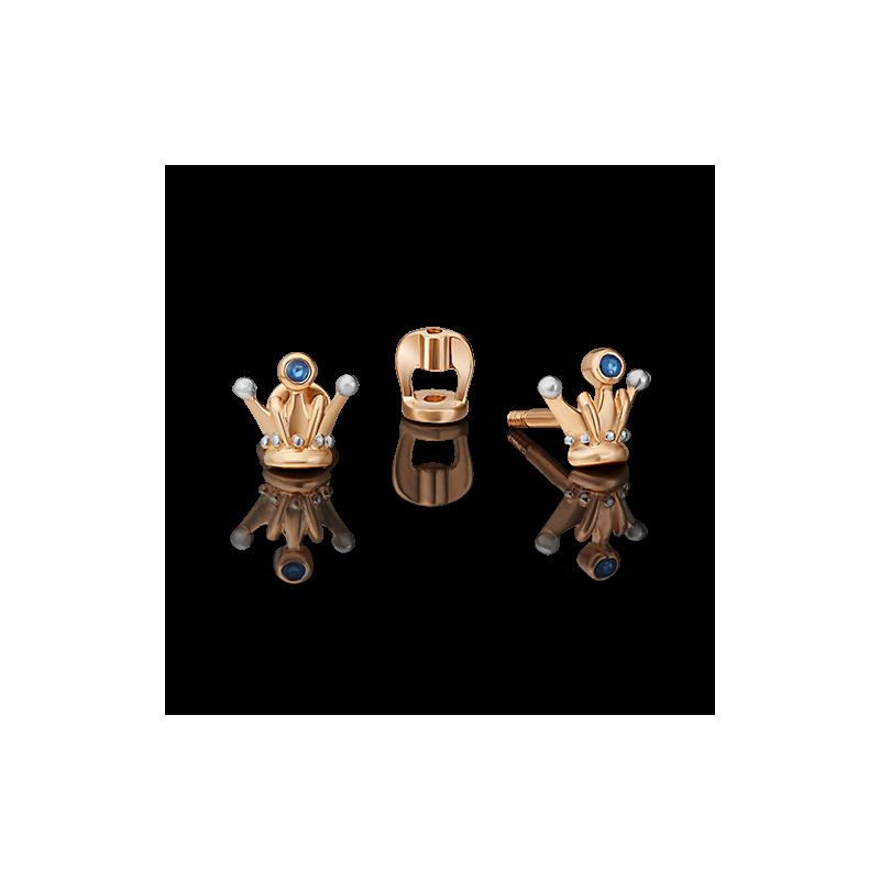 Серьги из золота, ювелирный завод ПЛАТИНА