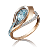 Кольцо из золота с голубыми топазами арт. 01-5150-00-201-1110-46