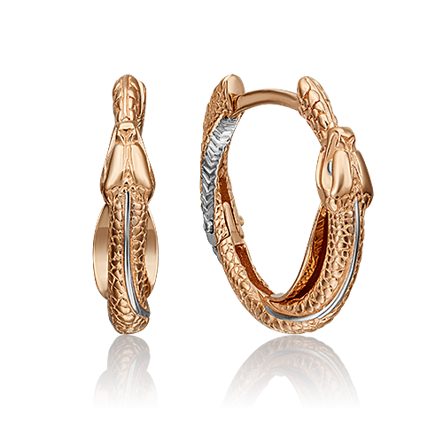 Серьги 02-4376-00-000-1110-48 из красного золота, Платина Кострома