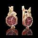 Серьги 02-4047-00-204-1110-57 с гранатами и эмалью из золота, ювелирный завод ПЛАТИНА