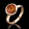 Кольцо из золота с янтарем, 01-5164-00-271-1110-46, ювелирный завод ПЛАТИНА