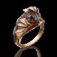 """Кольцо  01-5277-00-000-1110-65 """"Дракон"""" из красного золота, Платина Кострома"""