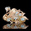 """Брошь в виде """"Лебедя"""" 04-0200-00-230-1110-57  из золота ПЛАТИНА КОСТРОМА"""