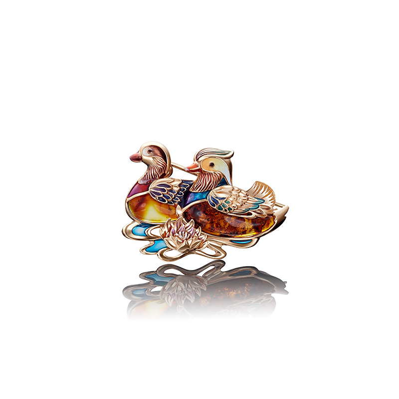 Брошь 04-0199-00-271-1110-46  из золота ПЛАТИНА КОСТРОМА
