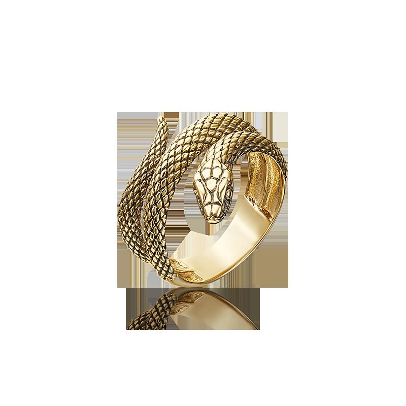 Кольцо в виде Змеи из желтого золота, Платина Кострома