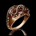 """Кольцо """"Змея"""" из золота с эмалью, ювелирный завод ПЛАТИНА"""
