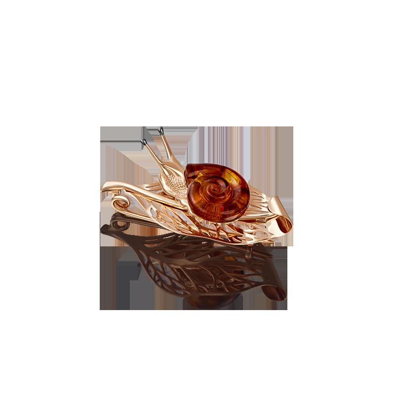 """Подвеска 03-2897-00-271-1110-46 """"Улитка""""из золота, ювелирный завод ПЛАТИНА"""
