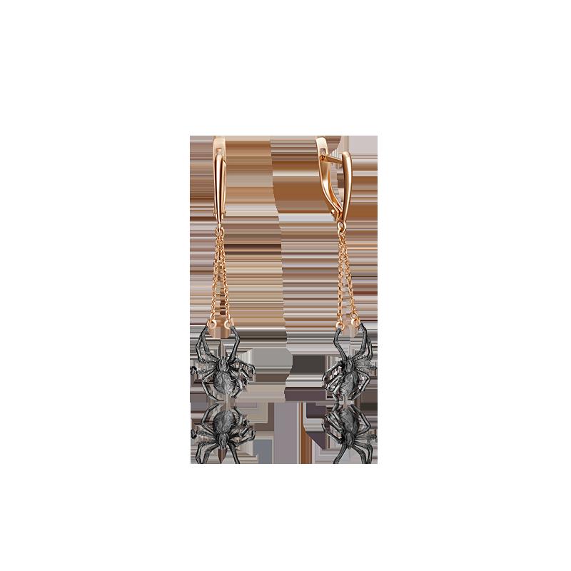Серьги 02-4259-00-000-1110-48 из золота, ювелирный завод ПЛАТИНА