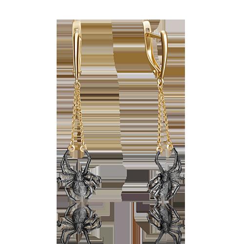 Серьги 02-4259-00-000-1130-48 из золота, ювелирный завод ПЛАТИНА