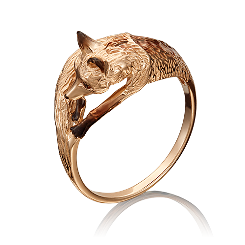 """Кольцо из золота """"Лиса"""", Платина Кострома"""
