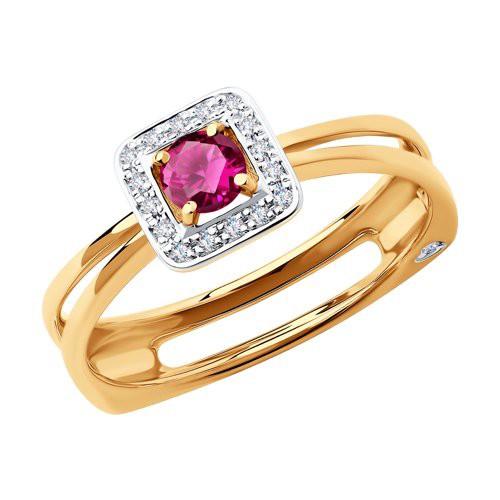 Кольцо 4010625 с рубином из золота от SOKOLOV