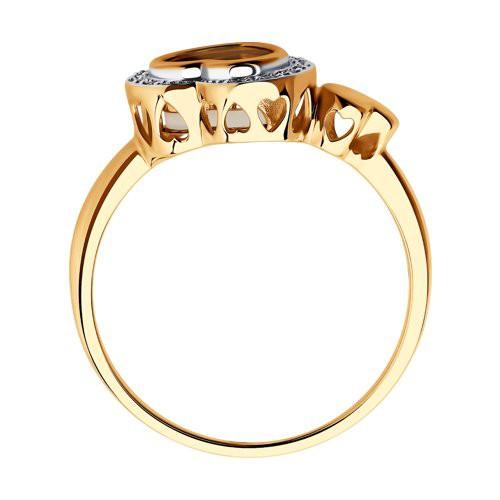 Кольцо 1011655 SOKOLOV с бриллиантом и перлпмутром