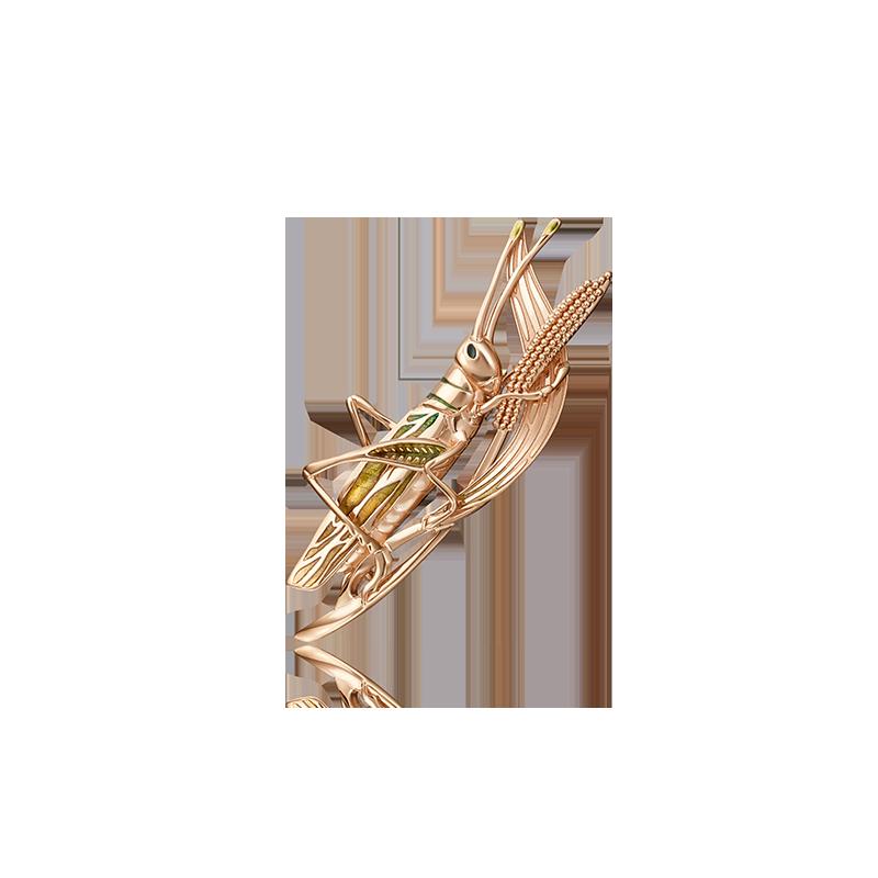 Брошь 04-0204-00-000-1110-65 из золота, ювелирный завод ПЛАТИНА