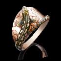 Кольцо 01-5030-00-000-1110-59 в виде ящерицы из золота с эмалью, ювелирный завод ПЛАТИНА