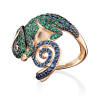 Кольцо в виде ящерицы из золота с эмалью, ювелирный завод ПЛАТИНА