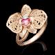 Кольцо 01-5039-00-401-1110-48 с цветной эмалью из золота, завод Платина Кострома