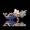 """Брошь """"Виноград"""" 04-0122-00-404-1110-24 из золота, ювелирный завод ПЛАТИНА"""