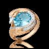 """Кольцо из золота с топазом """"Лебедь"""", ювелирный завод ПЛАТИНА"""