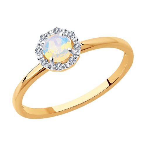 Кольцо 6014167 с опалом и бриллиантами из золота SOKOLOV