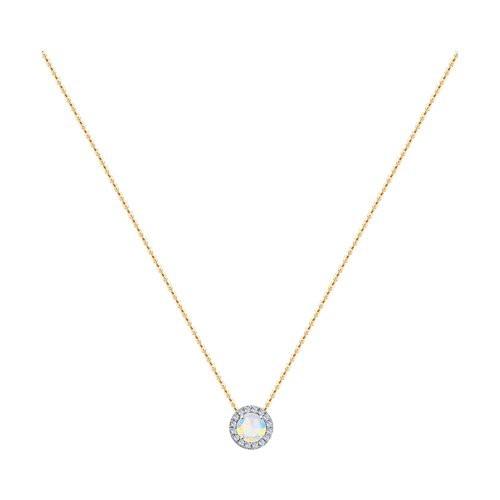 Колье 6074007 с опалом и бриллиантами из золота SOKOLOV