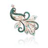 "Брошь ""Павлин"" 04-0120-02-404-1110-52 из золота ПЛАТИНА КОСТРОМА"