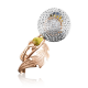 Брошь 04-0175-00-401-1111-48  из золота ПЛАТИНА КОСТРОМА