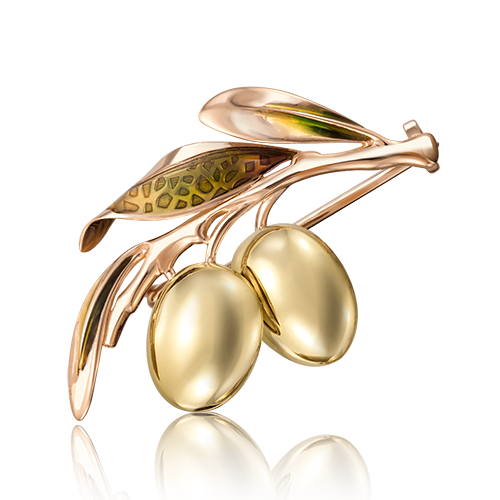 Брошь 04-0189-00-000-1113-42  из золота ПЛАТИНА КОСТРОМА