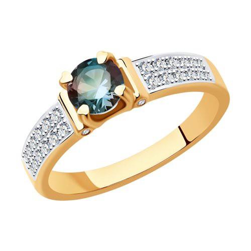 Кольцо 6014173 из золота с александритом и бриллиантами SOKOLOV