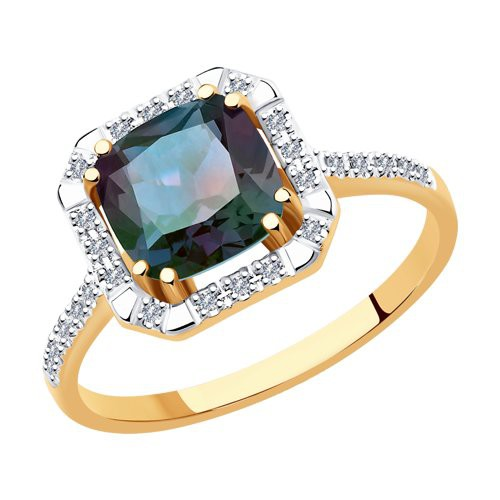 Кольцо 6014159 из золота с александритом и бриллиантами SOKOLOV
