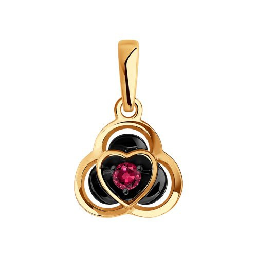 Подвеска 4030146 из золота с рубином - SOKOLOV