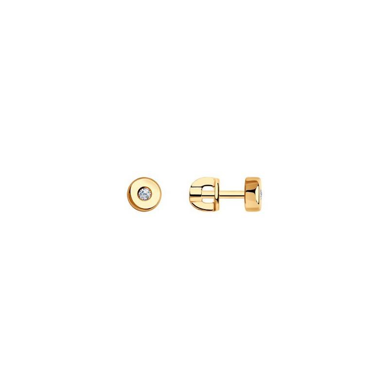 Серьги 1020863 из золота с бриллиантом SOKOLOV