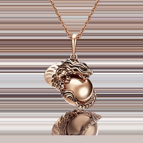 """Подвеска """"Дракон"""" 03-2852-00-000-1110-48  из золота, ювелирный завод ПЛАТИНА"""