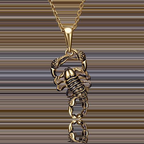 """Подвеска """"Скорпион"""" 03-2929-00-000-1130-59  из золота, ювелирный завод ПЛАТИНА"""