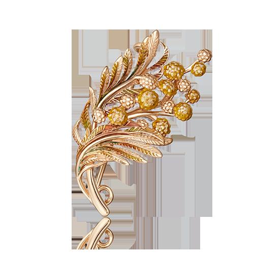 Брошь 04-0205-00-000-1110-65 из золота, ювелирный завод ПЛАТИНА