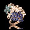 """Кольцо """"Виноград"""" 01-4839-00-404-1110-24 из золота, ювелирный завод ПЛАТИНА"""