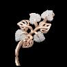 Брошь из золота с фианитами, ювелирный завод ПЛАТИНА