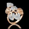 Кольцо из золота с фианитами, 01-3653-00-401-1110-24, ювелирный завод ПЛАТИНА
