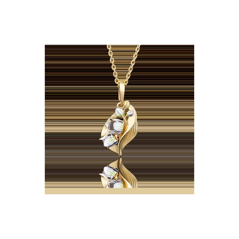 Подвеска 03-2653-00-000-1121-59 из золота с эмалью ПЛАТИНА КОСТРОМА