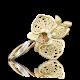"""Брошь из золота с эмалью """"Цветок орхидеи"""" завод ПЛАТИНА КОСТРОМА"""