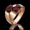 Кольцо 01-5251-00-204-1110-57 с гранатом из красного золота, Платина Кострома