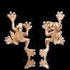 Серьги 02-4357-00-000-1110-42 пусеты из красного золота с аметистом и эмалью, Платина Кострома