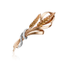 Брошь 04-0212-00-401-1110-03 из красного золота, завод ПЛАТИНА КОСТРОМА