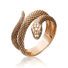 Кольцо в виде Змеи из красного золота, Платина Кострома