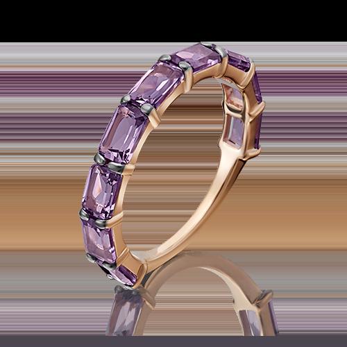 Кольцо из золота с аметистами, Платина Кострома