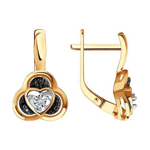 Серьги 7020102 из золота с бриллиантом - SOKOLOV