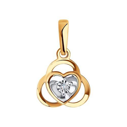 Подвеска 1030822 из золота с бриллиантом - SOKOLOV