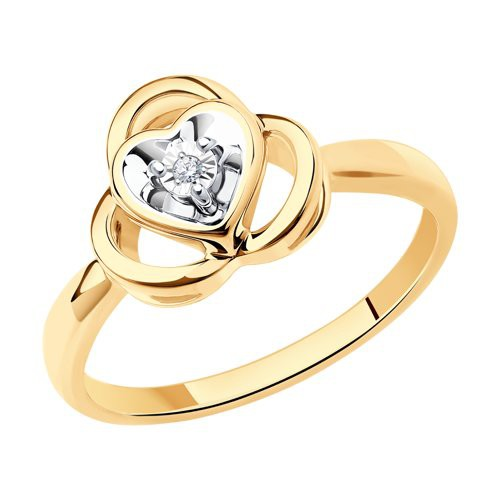 Кольцо 1012176 из золота с бриллиантом - SOKOLOV