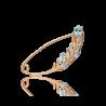 Брошь из золота голубым топазом, ювелирный завод ПЛАТИНА