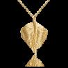Подвеска из желтого золота ювелирный завод ПЛАТИНА