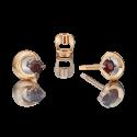 Серьги из золота с гранатом - PLATINA Jewelry